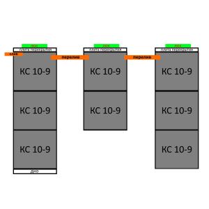 Септик из бетонных колец вариант 13