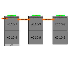 Септик из бетонных колец вариант 16