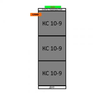 Септик из бетонных колец вариант 4