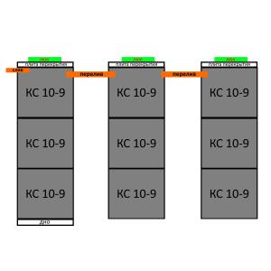 Септик из бетонных колец вариант 7