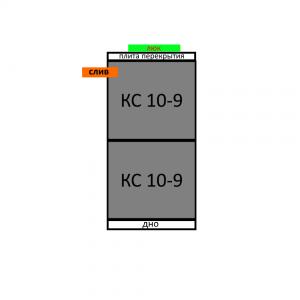 Септик из бетонных колец вариант 8